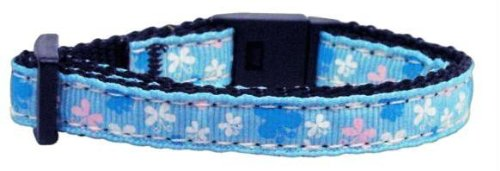 Butterfly Nylon Ribbon Collar Blue Cat Safety (24 Pack) [Misc.] by None