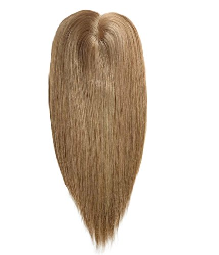 Uniwigs Remy Human Hair Mono Hairpiece, Closure, Hand Made Tied Hair Topper, Straight 16 Inches for Hair Loss (Y-22) by uniwigs