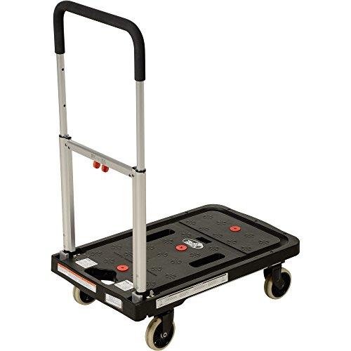 Vestil FF-FPT-1627 Fold Flat Plastic Cart, 26.75'' Length, 16.25'' Width, 36.5'' Height, 300 lb., Black by Vestil (Image #2)