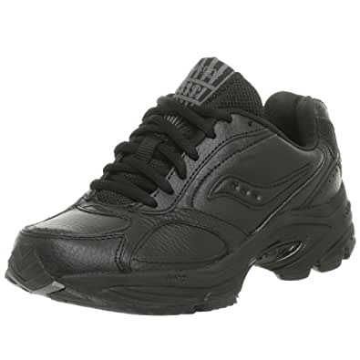 Saucony Women's Grid Omni Walker Walking Shoe,Black,5 N