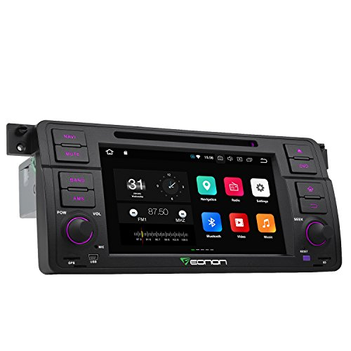 Eonon GA9150A Car Stereo Radio 7 Inch Android 8.0 Oreo, 4GB RAM 32GB ROM Octa-Core Radio Compatible with BMW 3 Series 1999,2000,2001,2002,2003 and 2004(E46) with WiFi Bluetooth in Dash Touch Screen