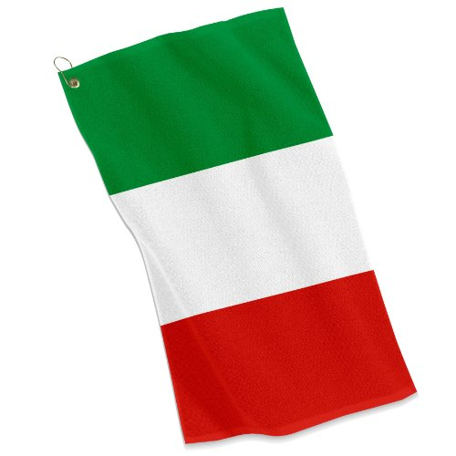 Golf / Sports Towel - Flag of Italy - Italian, Italia by ExpressItBest