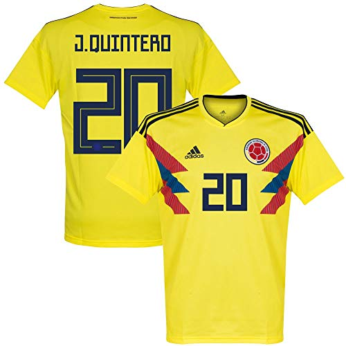 adidas Colombia Home J.Quintero 20 Jersey 2018/2019 (Official Printing) - M