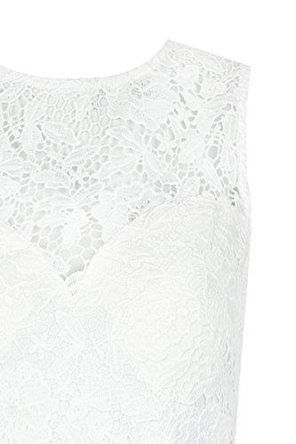 TALLY WEiJL - Abito Bianco con Pizzo Crochet - Donna - White