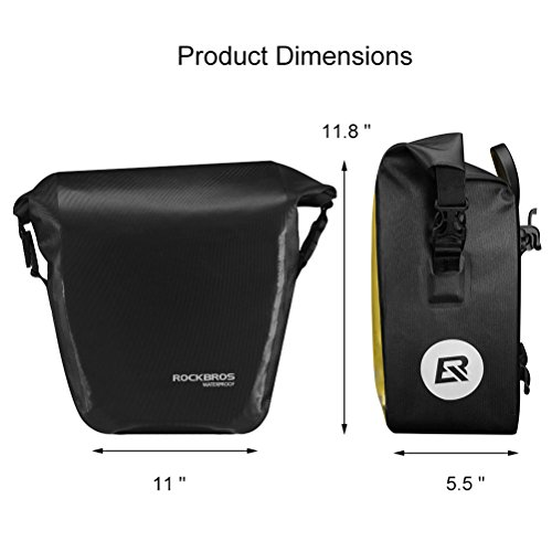 Rockbros Waterproof Bike Rear Seat Bag Multifunction Bicycle Rear Trunk Pannier Capacity Travel Shoulder Bag