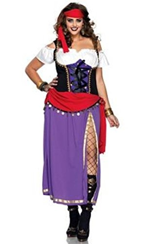 Traveling Gypsy Adult Womens Plus Size Costumes (Traveling Gypsy Costume - Plus Size 3X/4X - Dress Size 22-26)