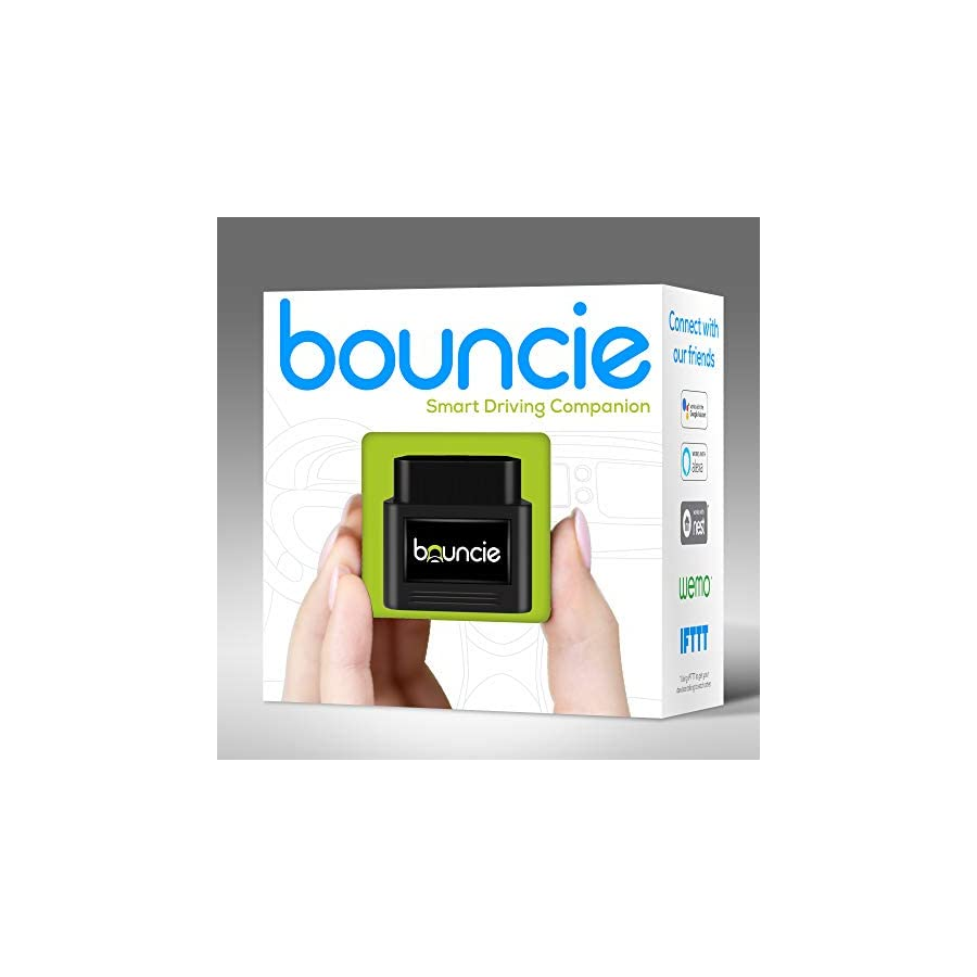 Bouncie Connected Car OBD2 Adapter $8 Monthly 3G Service Req'd Location Tracking, Driving Habits, Alerts, Geo Fence, Diagnostics Family or Fleets Alexa, Google Home, IFTTT