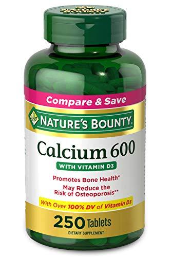 Calcium Carbonate & Vitamin D by Nature's Bounty, Supports Immune Health & Bone Health, 600mg Calcium & 800IU Vitamin D3…