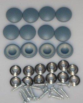 Wedgewood Blue Vinyl - Set Of 12 Dura Snap Upholstery Buttons #30 Wedgewood Blue Vinyl