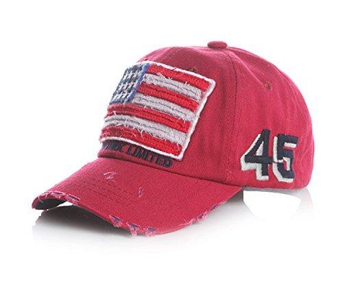 DSLV Classic Cotton Children's Hat American Flag Baseball Cap (National Costume Usa Children)