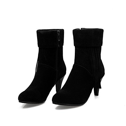 Urethane BalaMasa Slip Black Tassels ABL09963 Pointed Womens Resistant Boots Toe UTwZUR