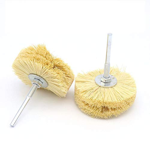 Best Quality - Cleaning Tools - Sisal polishing brush brushmahogany carvingsurface polishin brushwood reliefroot carving sisal and polished flower heads - by Libie - 1 PCs