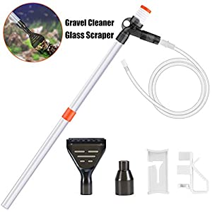 KASAN Gravel Cleaner Pump Aquarium Long Nozzle Cleaning Kit Tool, Aquarium Siphon for Cleaning Sand. with a Pneumatic Button Adjustment Control, it is a Vacuum Cleaner for Aquarium 16
