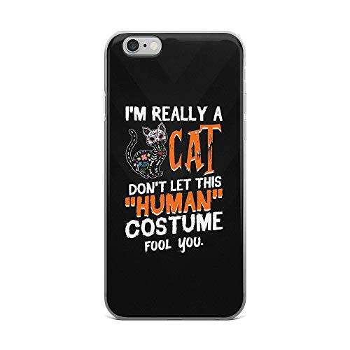 iPhone 6 Plus/6s Plus Pure Clear Case Cases Cover I'm Really a Cat Don't Let This Human Costume Fool You TPU Durable Flexible Protective Cover]()