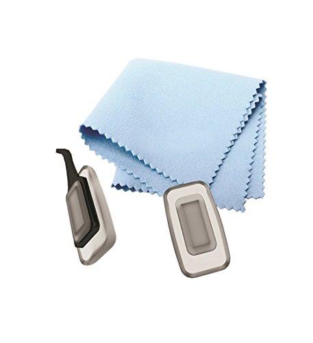 ALIMPIA Eyeglasses Kit Nose Pads Nosepads 11 mm Rectangular Foggy Push in + Free Microfiber Cleaning Cloth Set of 6 Pairs Nosepads + 1 - Nose Cleaning Glasses Pads