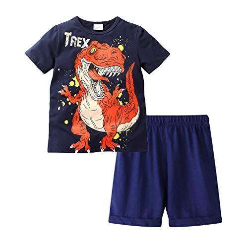 95sCloud 2 stuks kinderkleding jongen dinosaurus patroon korte mouwen tops T-shirt + shorts broeken boy kledingset zomer…