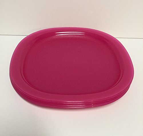 Tupperware Luncheon Plates - Pink 8