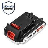 20 Volt LBXR20 Replace for Black and Decker 20V Battery 2.5Ah Lithium Max LB20 LBX20 LST220 LBXR20B-2 LBX4020 LBXR2020-OPE LB2X4020-OPE Cordless Power Tools