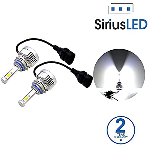 SiriusLED X3 Series Extremely Bright 8000 Lumen Citizen Chip LED Headlight Bulbs Conversion Kit Size 9005 HB3 Pure white 6000k Pack of - 1995 Oldsmobile 98 Series