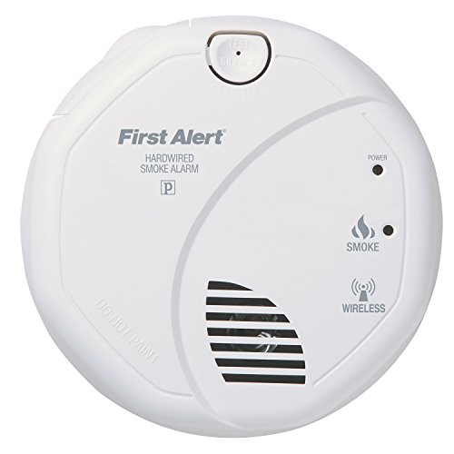 first alert sa521cn interconnected hardwire wireless smoke alarm with battery backup smoke. Black Bedroom Furniture Sets. Home Design Ideas