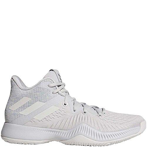 Scarpa Da Basket Adidas Uomo Pazzo Rimbalzo Grigio Chiaro / Bianco Corrente