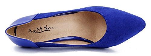 Punta Alti Eleganti Donna Blu Shoes Donna AgeeMi Tacchi scuro Scarpe A Classico Chiusa ztYqBwB