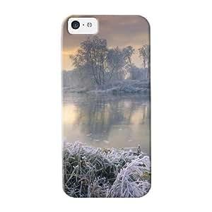 Design For Iphone 5c Premium Tpu Case Cover Frozen Lake Winter Protective Case