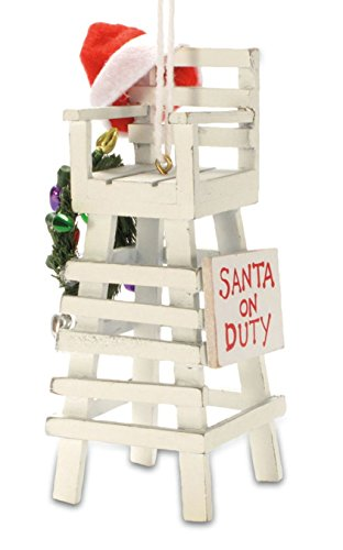 Tropical Beach Lifeguard Santa Christmas Tree ()