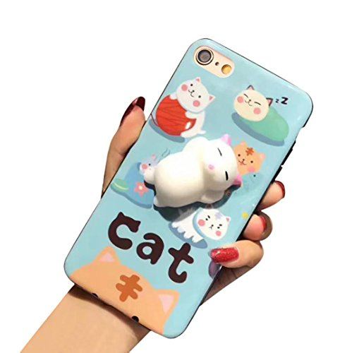 Price comparison product image GBSELL Cute Squishy 3D Lazy Cat Soft Back Case Cover for iPhone 6 Plus/6s Plus (E)