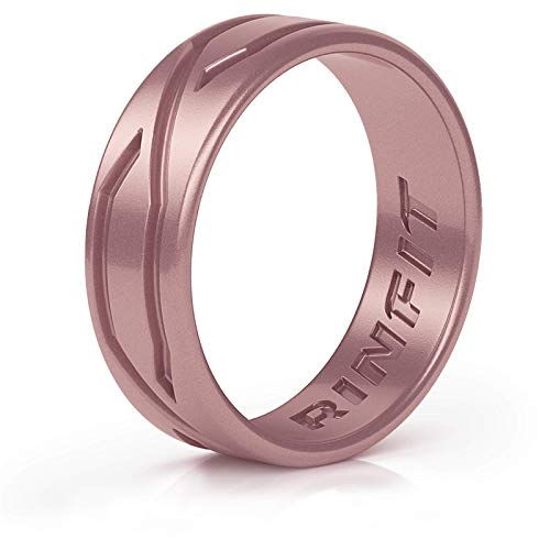 Rinfit Silicone Wedding Rings for Men & Women – 1/4/5/6 Bands Pack – Comfortable Durable Wedding Ring Replacement…
