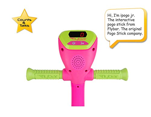 Flybar iPogo Jr. - Worlds First Interactive Counting Pogo Stick for Kids Ages 5 to 9 (Pink) by Flybar (Image #1)