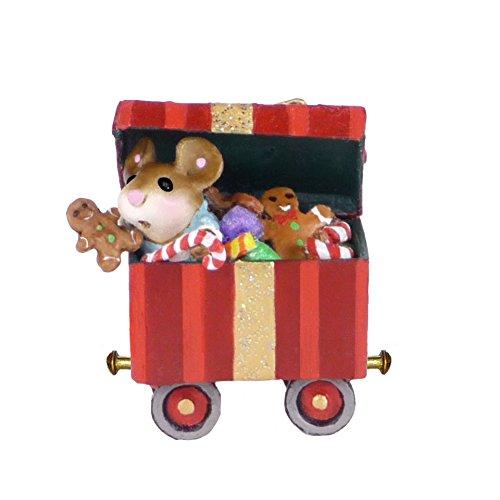 Wee Forest Folk Miniature Figurine M-453g - Christmas Candy Box Car