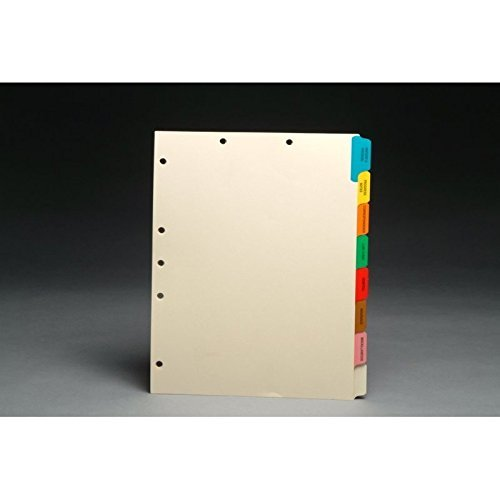 Stock Chart Divider Sets, Medical, Side Tabs, 1/8th Cut (50 Sets of 8 Tabs) - (4 Boxes)