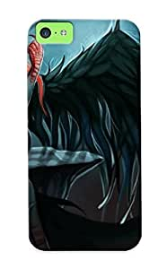 Christmas Day's Gift- New Arrival Cover Case With Nice Design For Iphone 5c- League Of Legends Morgana Fantasy Angel Wings Demon Elf Dark Sexy Sensual