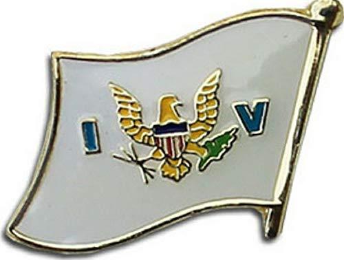 (Hebel U.S. Virgin Islands Flag Bike Motorcycle Hat Cap Lapel Pin (Premium Qulaity) | Model FLG - 1660)