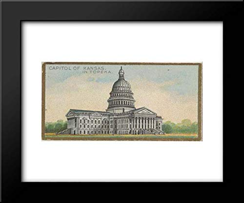 (Allen & Ginter - The Gast Lithograph & Engraving Company - 18x15 Framed Museum Art Print- Capitol of Kansas in Topeka, from The General Government and State Capitol Buildings Series)