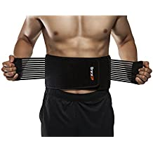 BraceUP® Stabilizing Lumbar Lower Back Brace and Support Belt with Dual Adjustable Straps and Breathable Mesh Panels