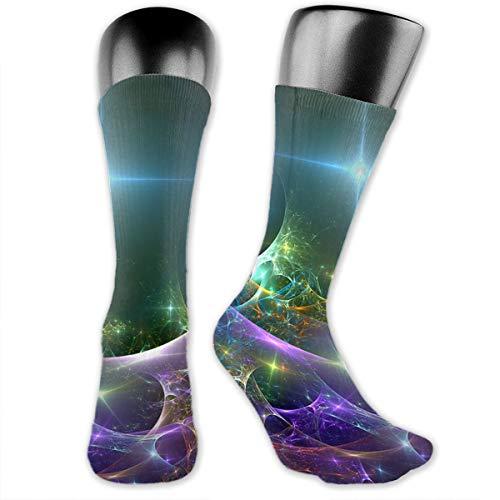 SARA NELL Women Girls Crew Socks Colorful Starlight Soap Bubble Compression Socks Sport Athletic Socks Tube Stockings Long Socks Funny Personalized Xmas Gift Socks ()