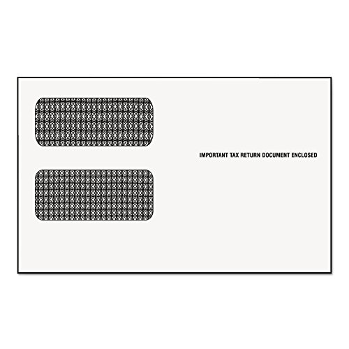 Tops 2222 Double Window Tax Form Envelope/1099R/Misc Forms, Gummed, 9 x 5 5/8, 24/Pack