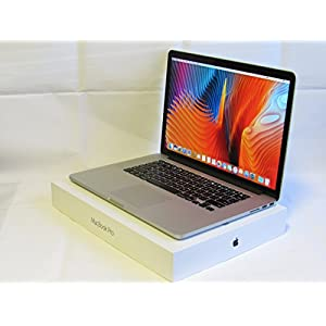 Apple MacBook Pro 15-Inch Retina Laptop Quad i7 2.6GHz / 16GB DDR3 Memory / 1TB SSD / Geforce GT 650M 1GB Video / High Sierra / HDMI / DVD±RW Drive