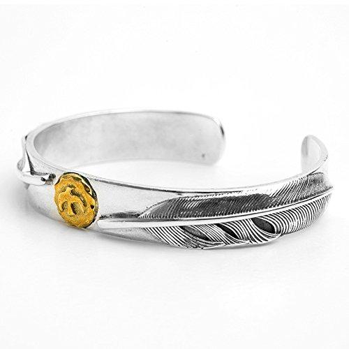 Daesar 925 Silver Bracelet For Men Opening Eagle Feathers Bracelet Silver by Daesar (Image #1)