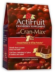 Enzymatic Therapy Actifruit With Cran-Max - 20 soft chews, 6Pack