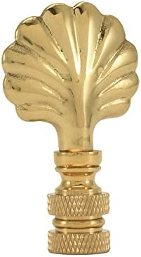 Royal Designs Seashell Lamp Finial for Lamp Shade Polished Brass
