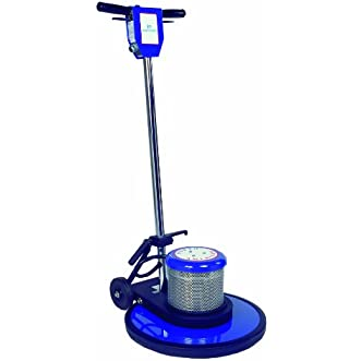NaceCare NA20DS Steel Dual Speed Floor Machine with High Speed Pad Driver, 4 Gallon Solution Capacity, 20  Brush Size, 1.5 HP DC Rectified Motor