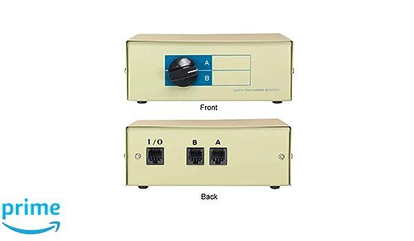 CablesOnline 2-Way A/B RJ45 Metal Rotary Manual Switch Box SB-034 ...