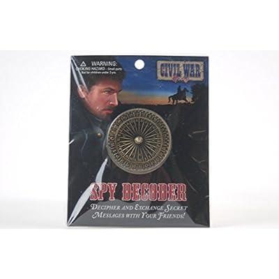 Civil War Spy Secret Decoder Decipher Wheel: Toys & Games