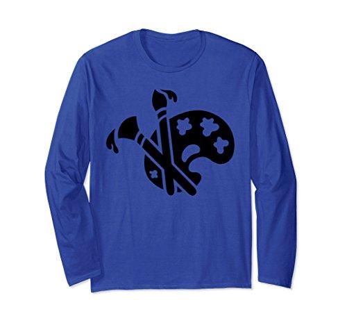 Unisex Artist Paint Brush Palette Hobby Art Lovers Craft T-Shirt XL: Royal Blue (Palette Paint Royal)