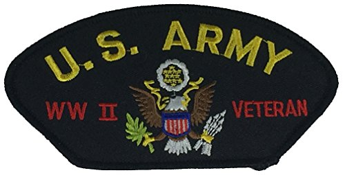US ARMY WWII VETERAN PATCH - Multi-Colored - Veteran Owned Business - Wwii Patches Army