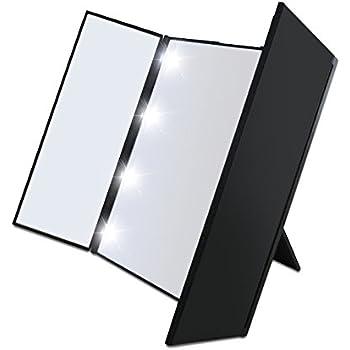 Amazon Com Desktop Foldable Led Makeup Mirror Lighted