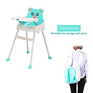 4 in1 Baby High Chair Convertible Toddler Table Seat Booster Infant Feeding Chair (Green)
